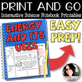 PRINT AND GO Interactive Science Printables for ENERGY (POTENTIAL, KINETIC, ETC)