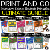 PRINT AND GO Interactive Science Printables BUNDLE FOR GRA