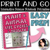 PRINT AND GO Interactive Science Printables for Plant & An