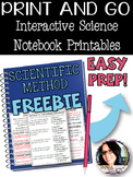 FREE Interactive Science Printables FREEBIE for SCIENTIFIC
