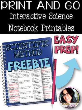 FREE Interactive Science Printables FREEBIE for SCIENTIFIC