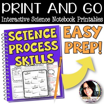 PRINT AND GO Interactive Science Printables for THE SCIENCE PROCESS SKILLS