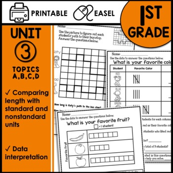 1st Grade Math Worksheets Graphing & Measuring