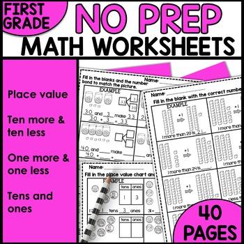 Math Worksheets 1st Grade [Place Value]