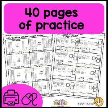 math worksheets 1st grade place value by ocd in elementary shanon juneau. Black Bedroom Furniture Sets. Home Design Ideas