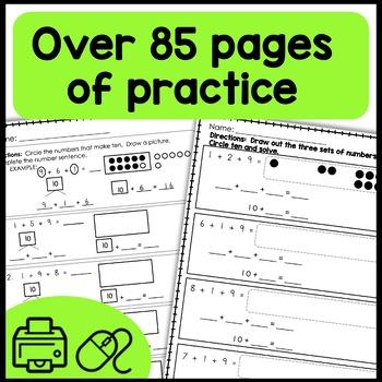 Math Print and Go (make ten, take from ten)