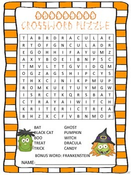 PRINT AND GO Seasonal Crossword Puzzles September-December