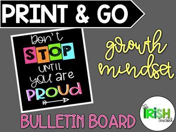 PRINT & GO Growth Mindset Motivational Bulletin Board