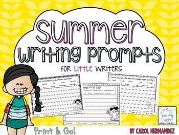 PRINT & GO Summer Writing Prompts