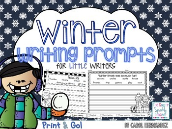 PRINT & GO Winter Writing Prompts