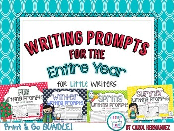 PRINT & GO Writing Prompts for the Entire Year