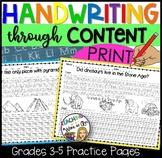PRINT Handwriting Practice Grades 3 and up- SET 1