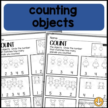 PRINT and GO Math Sheets for Kindergarten