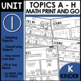 PRINT and GO Math Worksheets for Kindergarten MODULE 1