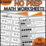 PRINT and GO Math Sheets for Kindergarten (Module 4)