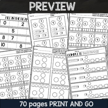 PRINT and GO Math Sheets for Kindergarten (Module 4)