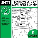 Kindergarten Worksheets PRINT and GO Module 2
