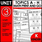 Kindergarten Math Worksheets PRINT and GO Module 3