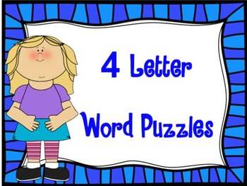 PRINTABLE 4 Letter Word Puzzles
