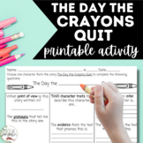 PRINTABLE Activity - The Day the Crayons Quit