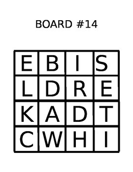 photograph relating to Boggle Printable identified as PRINTABLE BOGGLE BOARD - quickly editable
