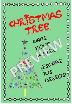 PRINTABLE CHRISTMAS TREE! *Write your wishes!*