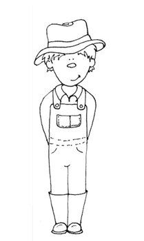 PRINTABLE COLORING SHEET - Farmer Boy by Saved by Grace | TpT
