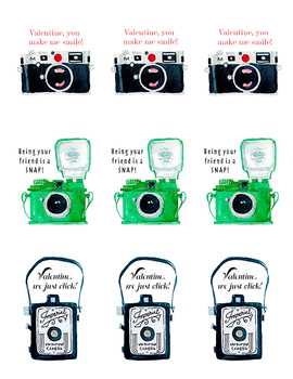 photograph about Camera Printable known as PRINTABLE Digicam Valentines