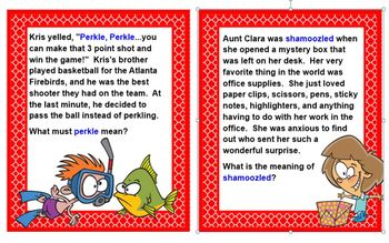 image regarding Clue Cards Printable named PRINTABLE Context Clue Playing cards