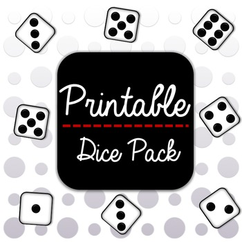 photograph relating to Printable Dice referred to as 20 Printable Cube Pack