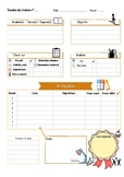 PRINTABLE Exam Planner in French