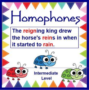 PRINTABLE Homophone Pairs Card Set - Intermediate Level