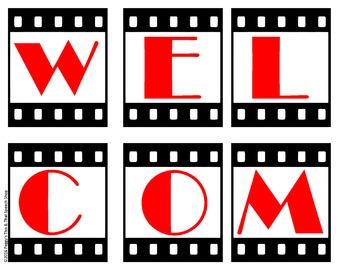 Lights, Camera, Action Movie Theme Speech Bulletin Board Set