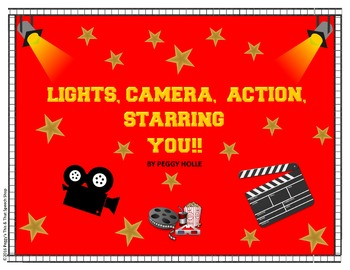 Lights, Camera, Action Movie Theme Bulletin Board Set for Speech