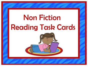 PRINTABLE NON FICTION Reading Task Cards
