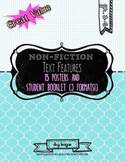PRINTABLE Non-fiction Text Features Poster and Student Booklet