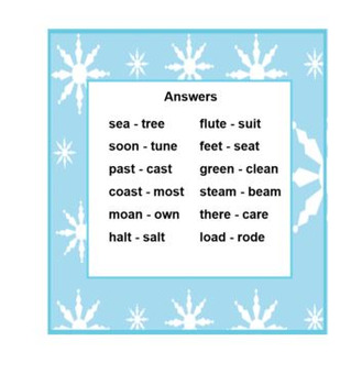 PRINTABLE  RHYMING Snowman Card Set