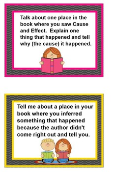 PRINTABLE Reading Task Cards for FICTION