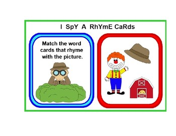 graphic relating to Printable Rhyming Cards identified as PRINTABLE Rhyming Words and phrases CARD Established