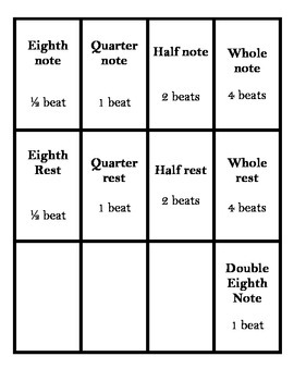 PRINTABLE Rhythm Flashcards