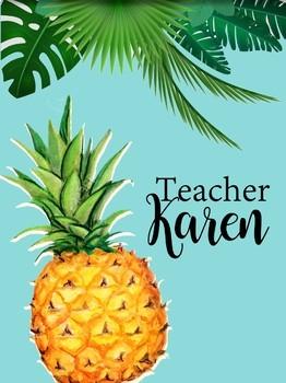 PRINTABLE TROPICAL TEACHER PLANNER
