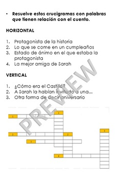 PRINTABLE SPANISH TALES - READING COMPREHENSION EXERCISES AND GAMES