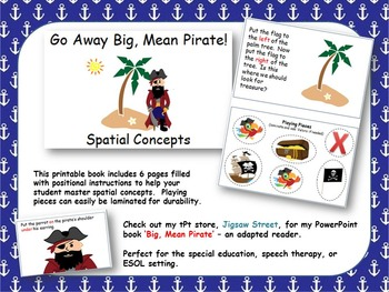 PRINTABLE Spatial Concepts Book - Pirate Themed {Special E