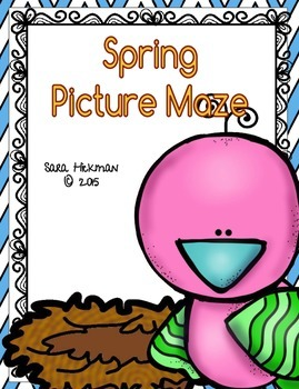 Spring Picture Mazes for Fine Motor Pencil Control
