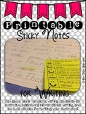PRINTABLE Sticky Notes for Writing