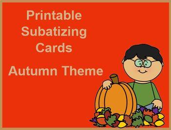 PRINTABLE Subatizing Cards Autumn Theme