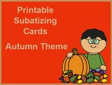 PRINTABLE Subatizing Cards Autumn Theme