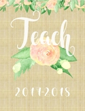 PRINTABLE TEACHER GRADEBOOK & PLANNER: Blooms