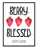 PRINTABLE TEACHER GRADEBOOK & PLANNER: Berries