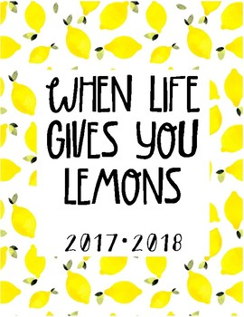 PRINTABLE TEACHER GRADEBOOK & PLANNER: Lemonade